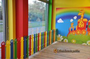 Płotek dekoracyjny w przedszkolu
