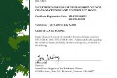 certyfikat jakości sklejki