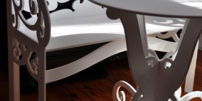 ławka i stolik