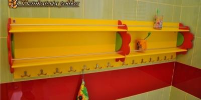 półka łazienkowa na kubeczki -1