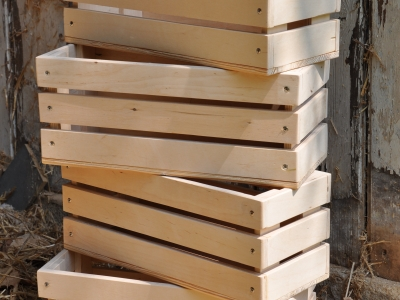 Doniczka z drewna skrzynka zielnik