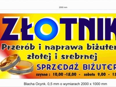 reklama na blasze
