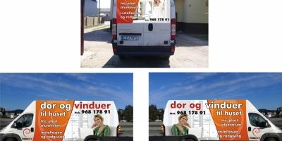 samochódz reklamą
